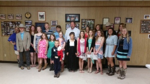 Keller 4-H members at their Awards Banquet on May 17